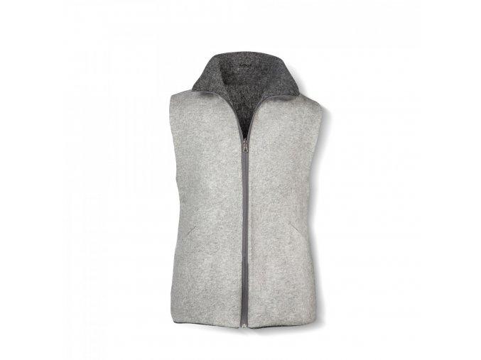 Dámská vesta z vlněné plsti oboustranná