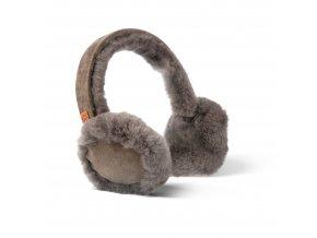 Kožešinové klapky na uši kaštan