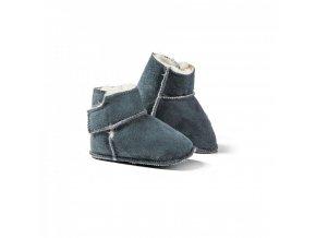 Dětské kožešinové botičky KUSCHL modro šedé