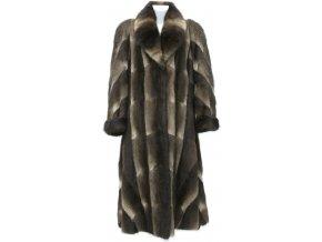 Dámský dlouhý kožešinový kabát