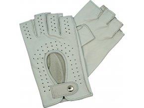 dámské rukavice bezprsté bílé