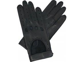 dámské řidičské rukavice černá suchý zip