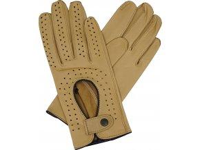 dámské řidičské rukavice písek