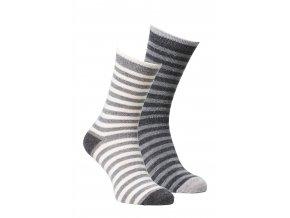 Alpaka Socken gestreift hell dunkel big