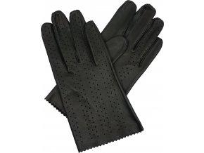 dámské rukavice bezpodšívkové černé výsek pruh