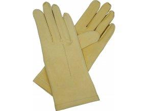 dámské rukavice bezpodšívkové jelenice hladké