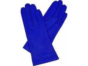 dámské rukavice bezpodšívkové modrá hladké