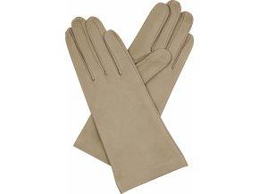 dámské rukavice bezpodšívkové taupe hladké