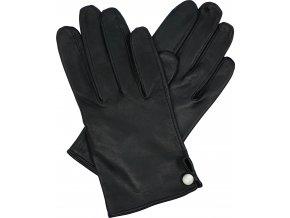 dámské rukavice bezpodšívkové černé knoflík