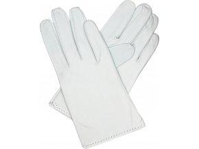dámské rukavice bezpodšívkové bílé výsek