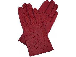 dámské rukavice bezpodšívkové červené výsek obě strany