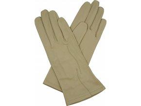 dámské kožené rukavice bezpodšívkové s výšivkou