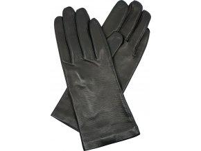 dámské kožené rukavice podšívka UH černá