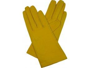 dámské kožené rukavice podšívka UH žlutá