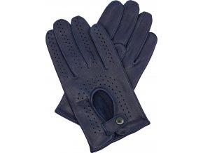 pánské kožené rukavice řidičské modré
