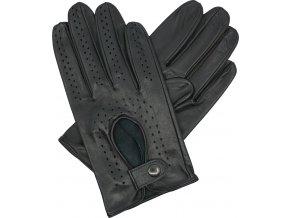 pánské kožené rukavice řidičské černé