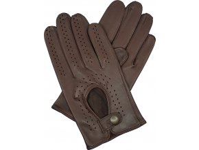 pánské kožené rukavice řidičské hnědé