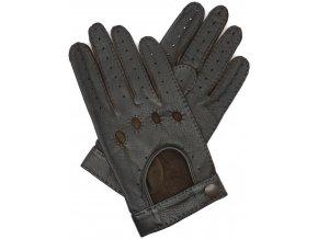 pánské kožené rukavice řidičské hnědé ruční šití