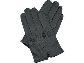 pánské kožené rukavice řidičské šedé