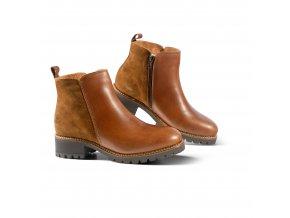 Dámská zimní obuv LE MANS hnědá