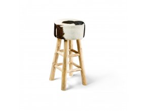 Barová stolička BAR černo-bílá