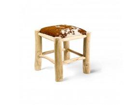 Stolička SCHEMEL bnědo-bílá
