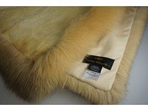Kožešinová deka bizam 200x140