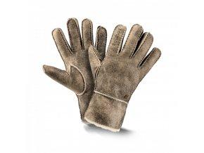 kožešinové rukavice TREND retro