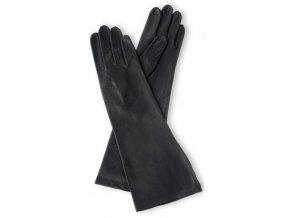Dámské dlouhé rukavice podšívka hedvábí