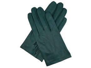 pánské kožené bezpodšívkové rukavice zelené