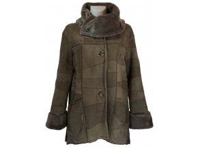 Dámský kožešinový kabát jehnětina oboustranná
