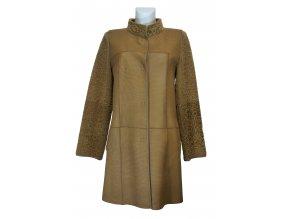 dámský kožešinový kabát kombinace napa a vlas