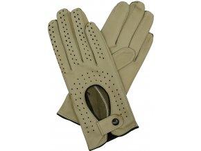 dámské kožené rukavice řidičské bříza