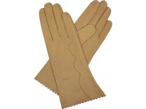 dámské kožené rukavice bezpodšívkové výšivka