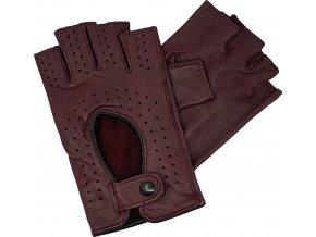 dámské rukavice bezprsté vínové