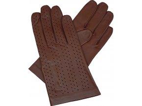 dámské rukavice bezpodšívkové hnědá výsek