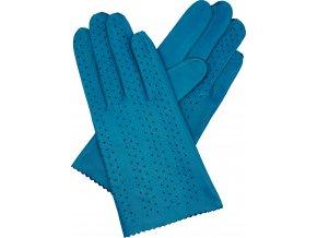 dámské rukavice bezpodšívkové tyrkys výsek