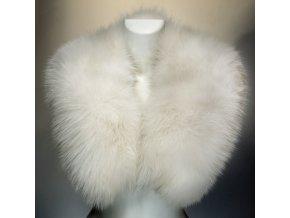 dámský kožešinový límec liška bílá
