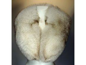 dámský kožešinový límec liška modrá