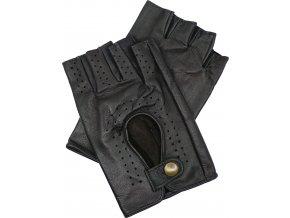 pánské kožené rukavice bezprsté hnědé