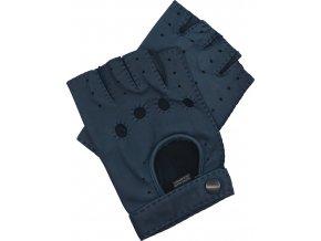 pánské kožené rukavice bezprsté modré