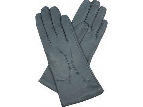 dámské kožené rukavice podšívka UH šedá