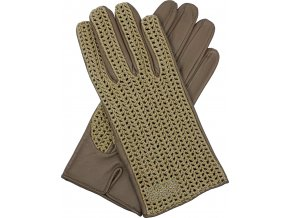 pánské kožené rukavice bezpodšívkové karlovarské hnědé