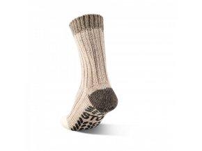 Alpaka ponožka ABS hnědá zadní