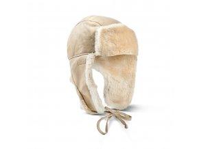 kožešinová ušanka Yukon béžová