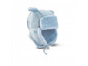 dětská kožešinová ušanka PETZI modrá