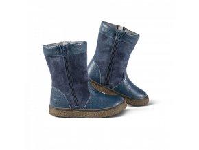 dětská kožešinová obuv DOLOMITI KIDS kobalt
