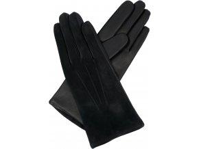 dámské rukavice s podšívkou vlna kombi černé