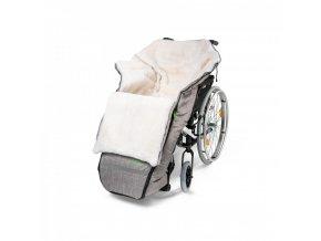 Fusak na invalidní vozík černá melanž polootevřený