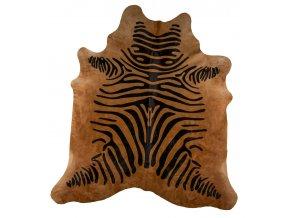 hovězina zlatá potisk zebra